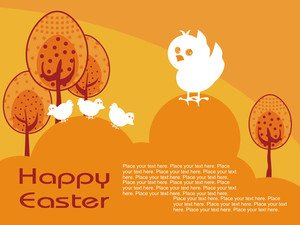 Abstract Pattern Easter Day Background
