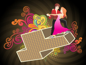 Abstract Pattern Illustration With Couple