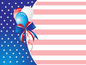 Abstract Pattern Us Independence Day Card