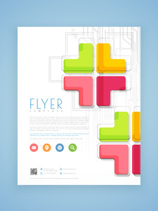 Abstract professional business flyer template or brochure design for corporate sector.