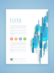 Abstract professional business flyer template or brochure design.