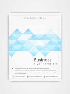 Abstract professional flyer template or brochure design for business purpose.