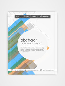 Abstract professional flyer template or brochure design for corporate sector.