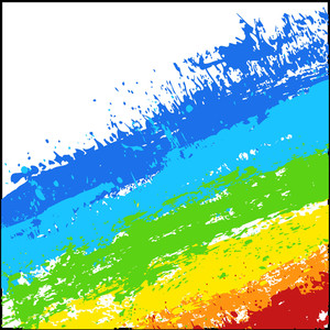 Abstract Rainbow Splash Lines Background