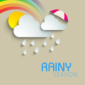 Abstract Rainy Season Background With Cloud