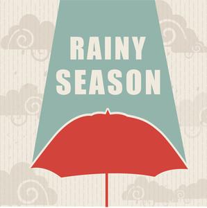 Abstract Rainy Season Background