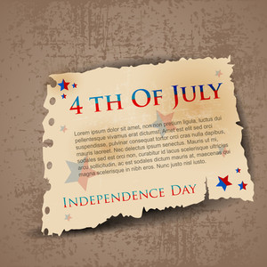 Abstract Retro Background For 4 Th Of July.