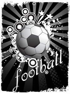Abstract Retro Background With Football