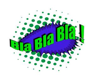 Abstract Retro Bla Text Banner