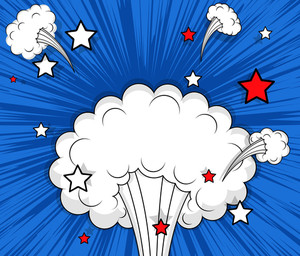 Abstract Retro Cloud Burst Background