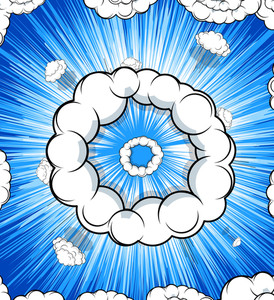 Abstract Retro Clouds Vector Background