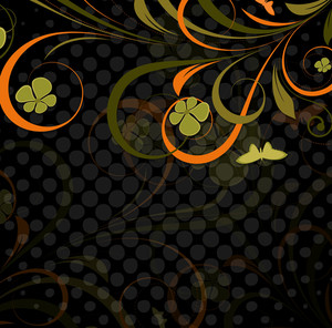 Abstract Retro Flourish Vector Backdrop