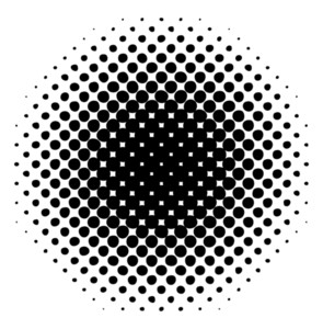 Abstract Retro Halftone Circle Banner