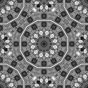 Abstract Retro Kaleidoscopic Background