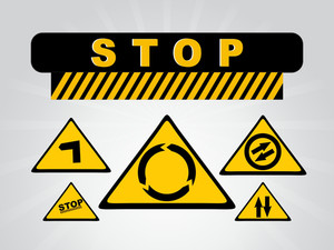 Abstract Road Sign Icons