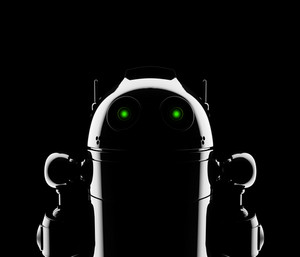 Abstract Robot Silhouette. Still Life Render