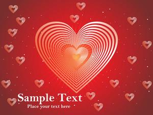 Abstract Romantic Love Design Vector