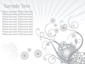 Abstract Sample Text Background With Floral Elements