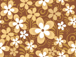 Abstract Seamless Pattern With Beautiful Floralsr. Vector