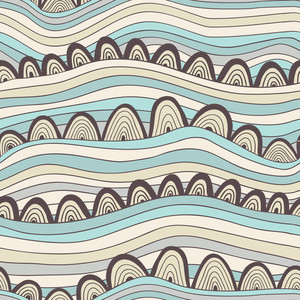 Abstract Seamless Pattern With Stripes And Circles
