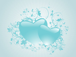Abstract Set Of Heart Background