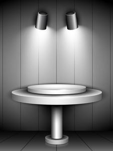 Abstract Shiny Presentation Of Grey Podium 10