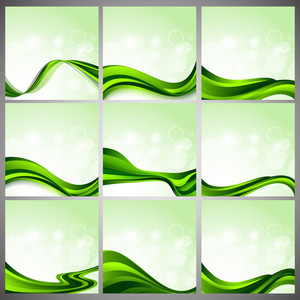 Abstract Shiny Wave Background.