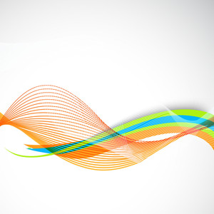 Abstract Shiny Wave Background