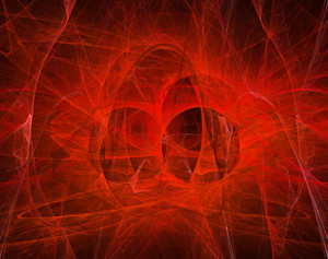 Abstract Smoke Red Background