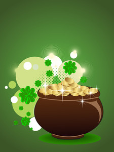 Abstract St Patrick's Pot. Vector Illustration