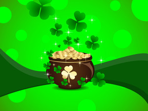 Abstract St Patrick's Pot .vector Illustration