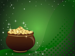 Abstract St Patrick's Pot Vector Illustration