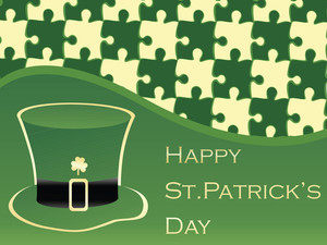 Abstract St. Pattrick's Day Pattern 17 March