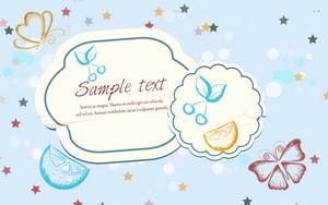 Abstract Stickers Vector Illustration