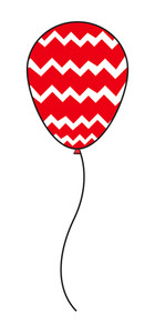 Abstract Striped Balloon