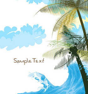Abstract Summer Background Vector Illustration