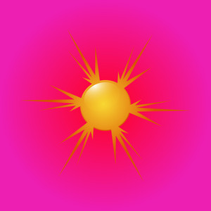 Abstract Sun Design Background