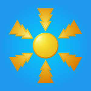 Abstract Sun Design Icon