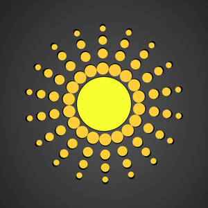 Abstract Sun Design Vector