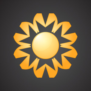 Abstract Sun Icon Design