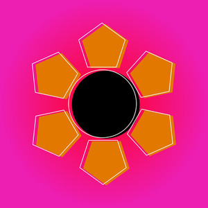 Abstract Sun Vector Design
