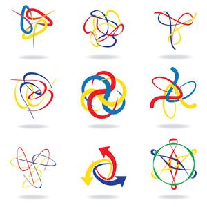 Abstract Swirl Design Set