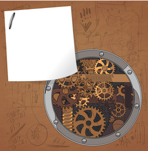 Abstract Technology Background Vector Machinery.