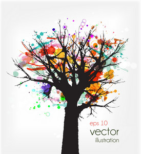 Abstract Tree Vector Ilustration