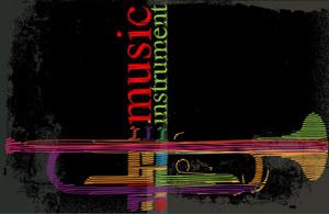 Abstract Trumpet. Vector Illustration