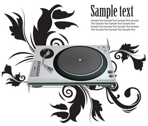 Abstract Turntable Vector