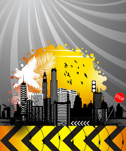 Abstract Urban Background Vector Illustration