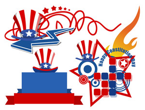 Abstract Usa Theme Constitution Day Vector Illustration