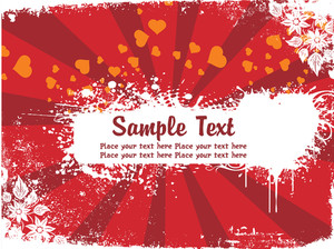 Abstract Valentine Background Banner