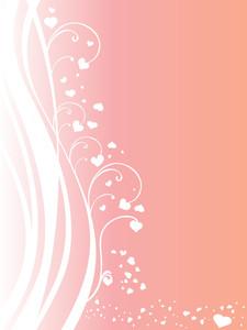 Abstract Valentine Vector Wallpaper